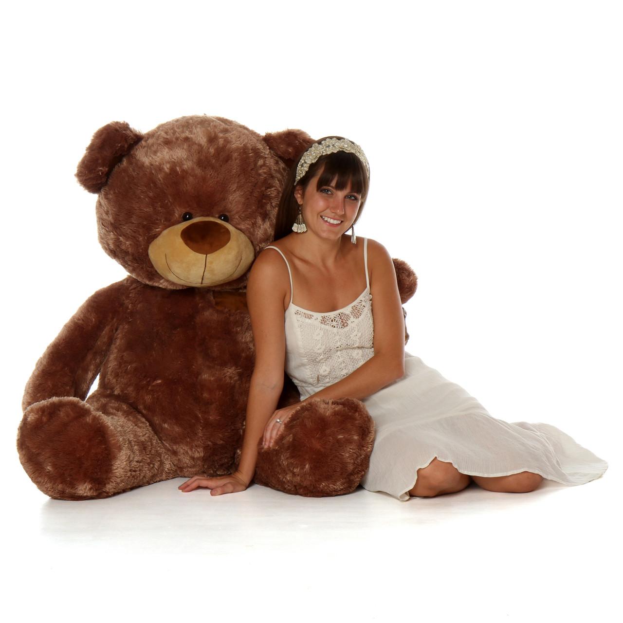 Tiny Shags 45 Mocha Brown Large Plush Teddy Bear Giant