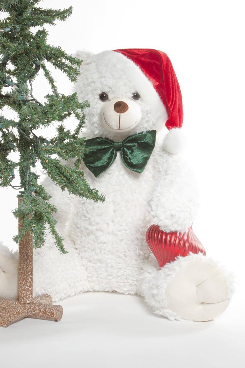 Jingles Woolly Tubs 32 Inch A White Christmas Teddy Bear