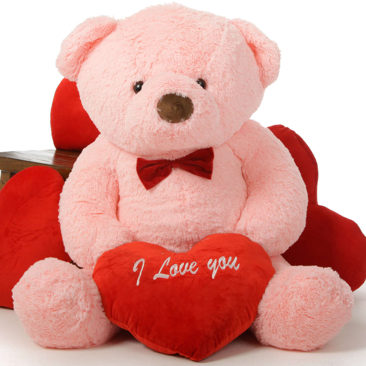 48in Giant Valentines Day Teddy Bears Have Red I Love You
