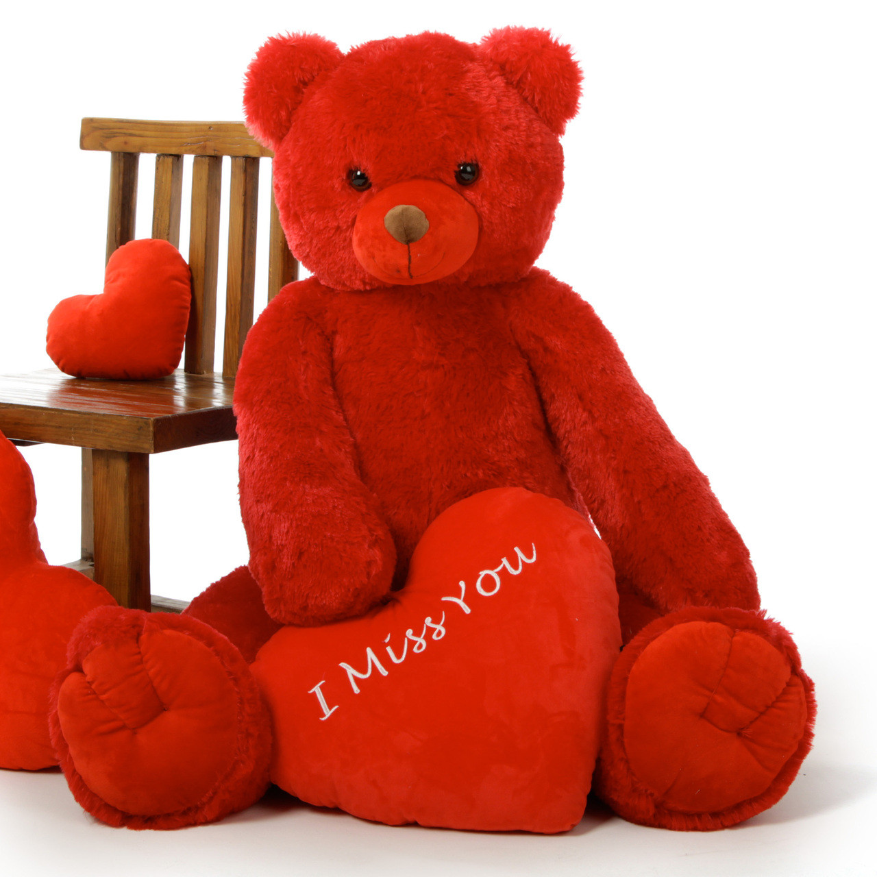 Huge Red Valentines Day Teddy Bears 42in With Plush