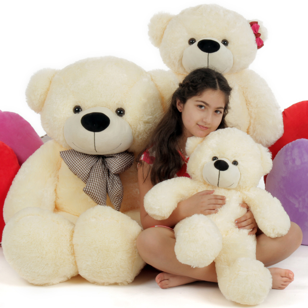 Giant Teddy 3 Bears Family 4ft Papa 3ft Mama 2ft Baby