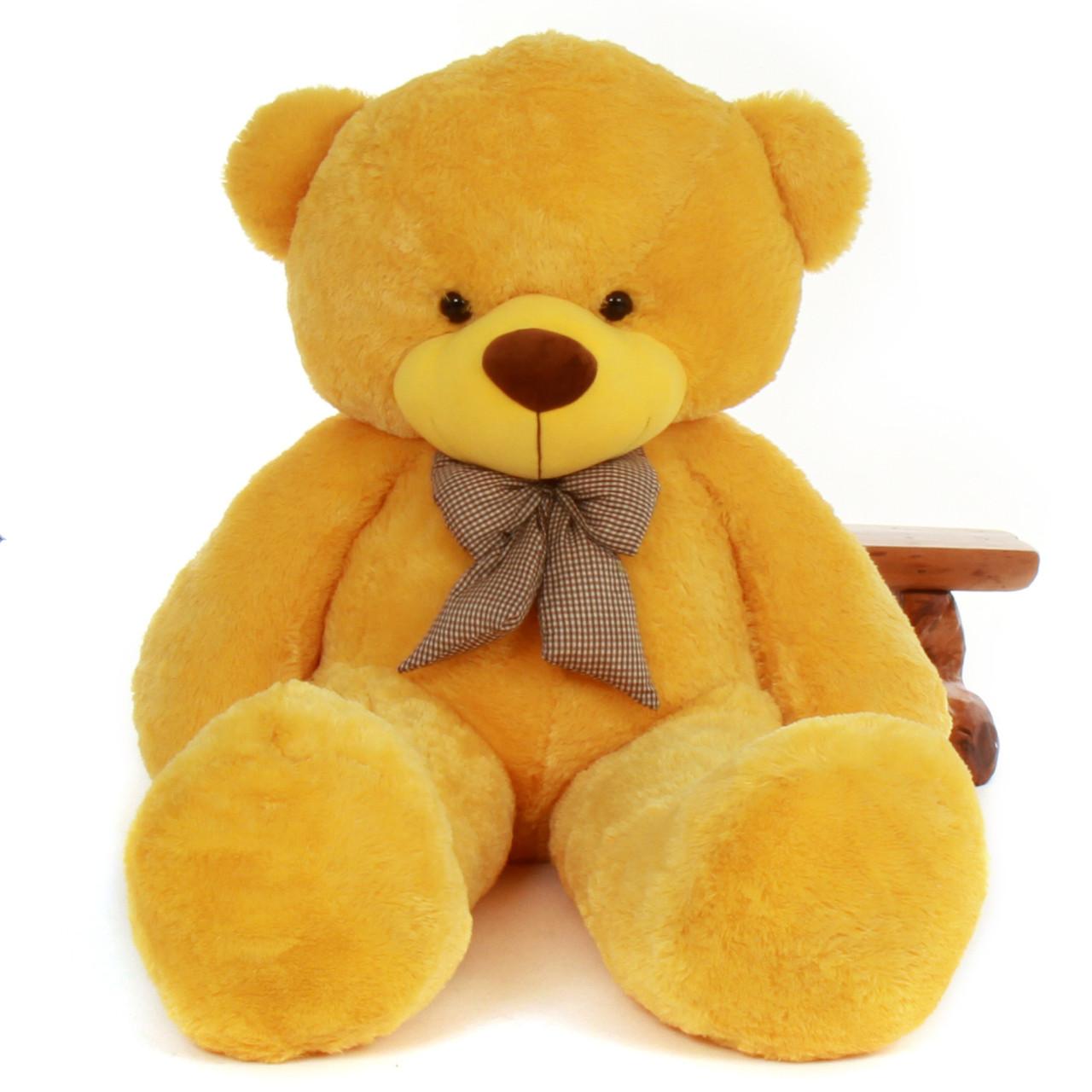 6ft Life Size Yellow Teddy Bear Daisy Cuddles Giant Teddy