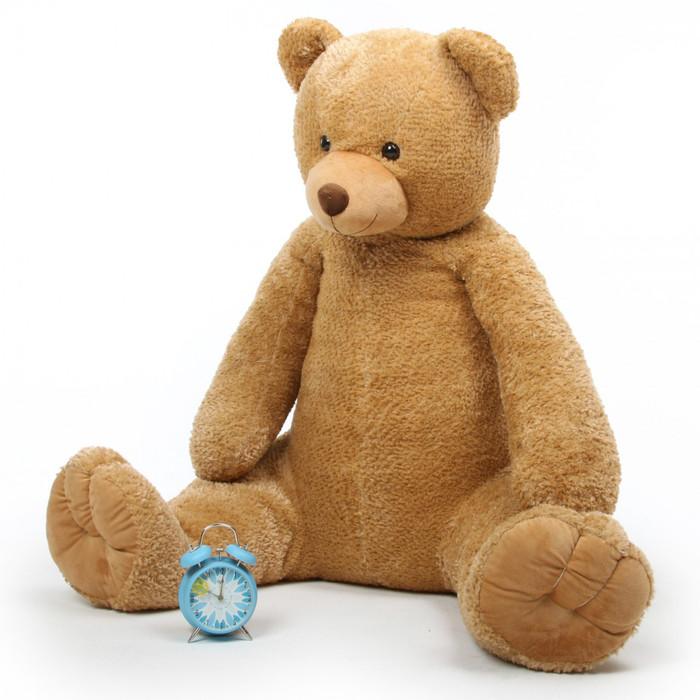 Jumbo Honey Tubs 52in Amber Brown Big Plush Teddy Bear