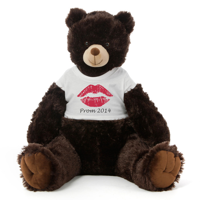 42in Personalized Giant Dk Brown Prom Teddy Bear Special