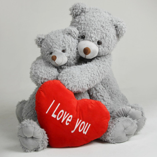 Sugar Kisses Valentines Teddy Bears With Heart I Love You
