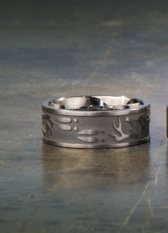 Deer Antler Amp Sheds Ring Unique Titanium Rings Amp More