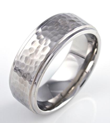 Hammered Wedding Band Unique Titanium Rings Amp More