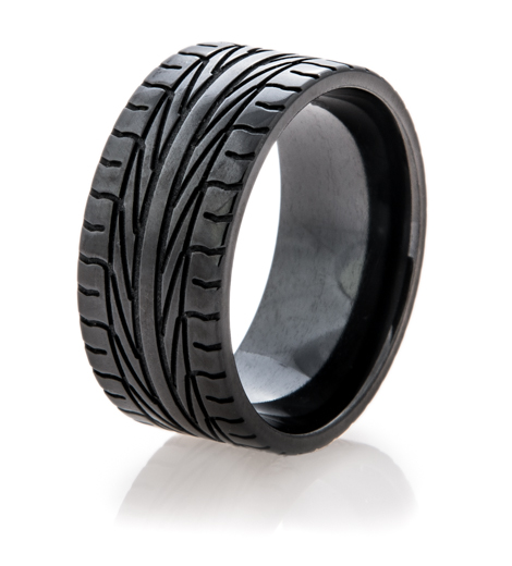 Mens Black Goodyear Assurance Ring Titanium Buzz