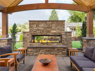 60 Quot Outdoor Linear Gas Fireplace Rocky Mountain Stove