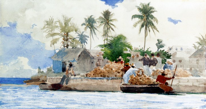 Sponge Fishermen, Bahamas by Winslow Homer