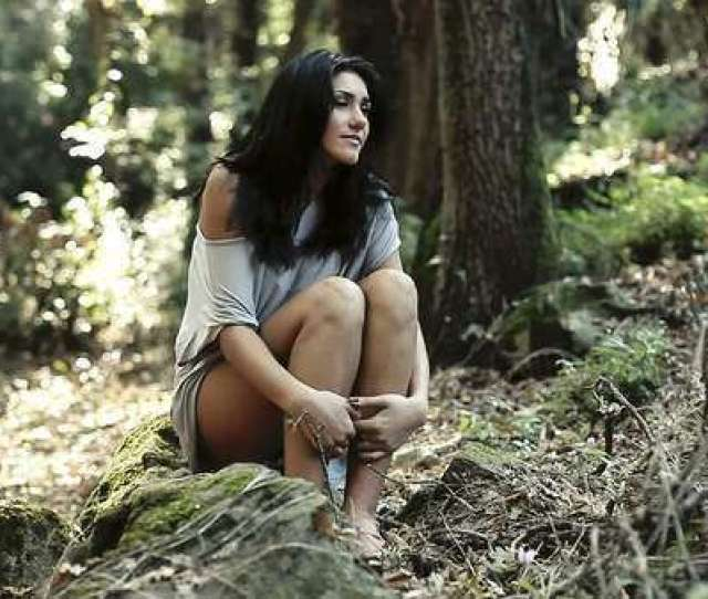 Beautiful Woman In Forest Film Horror Royalty Free Stock Video