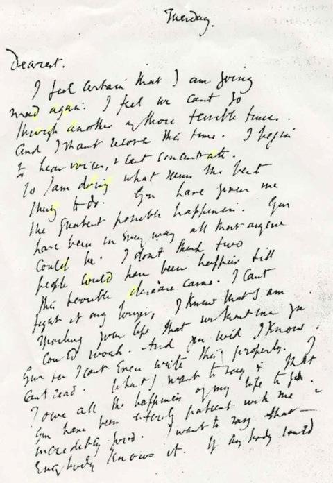 virginia woolf carta a su marido