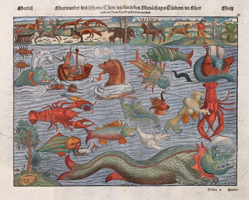 1500s Monsters Maps Sea World