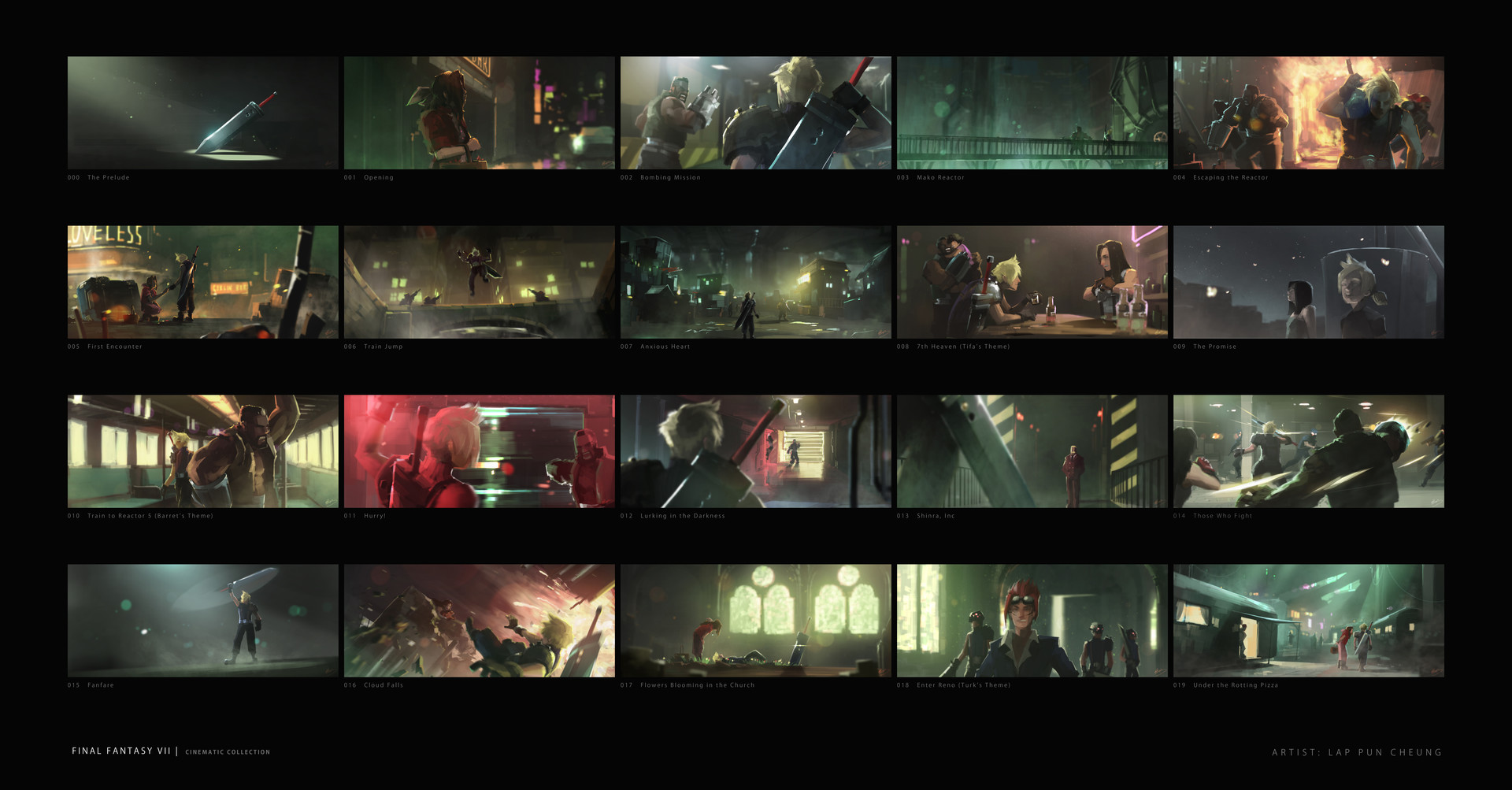 ArtStation Final Fantasy VII Part 1 Lap Pun Cheung
