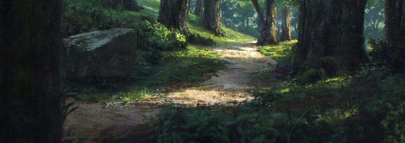 Artstation Forest Sketch Jordi Gonzalez Escamilla