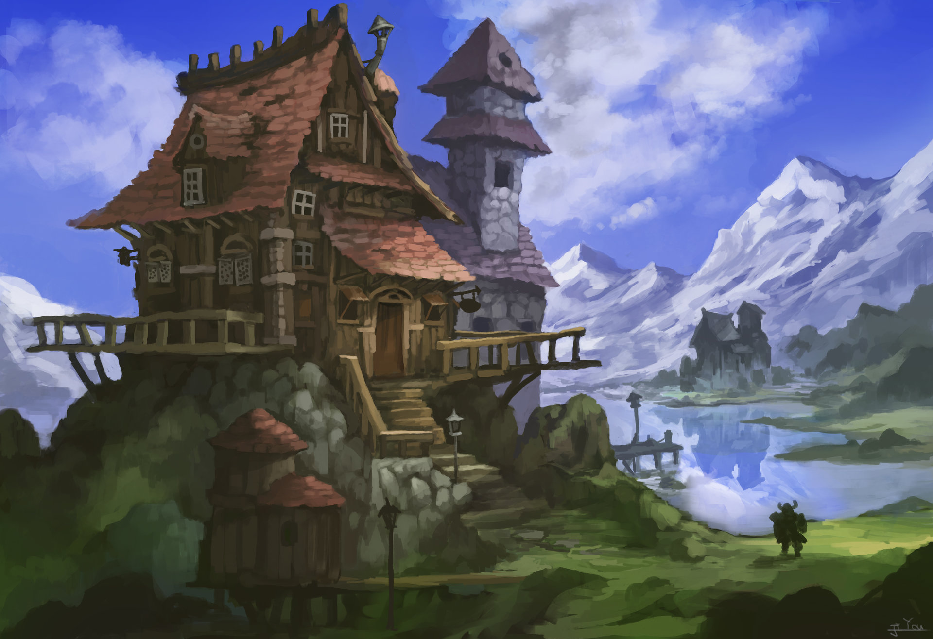 Artstation Dwarf House Ji You Zhong