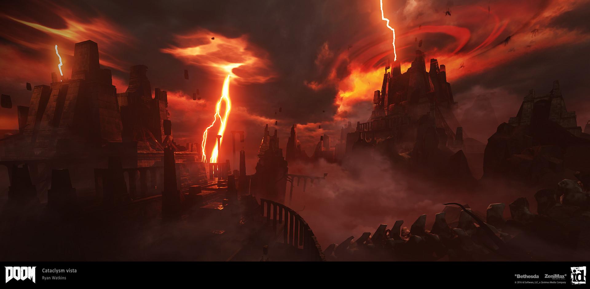 Artstation Cataclysm Hell Vista Ryan Watkins