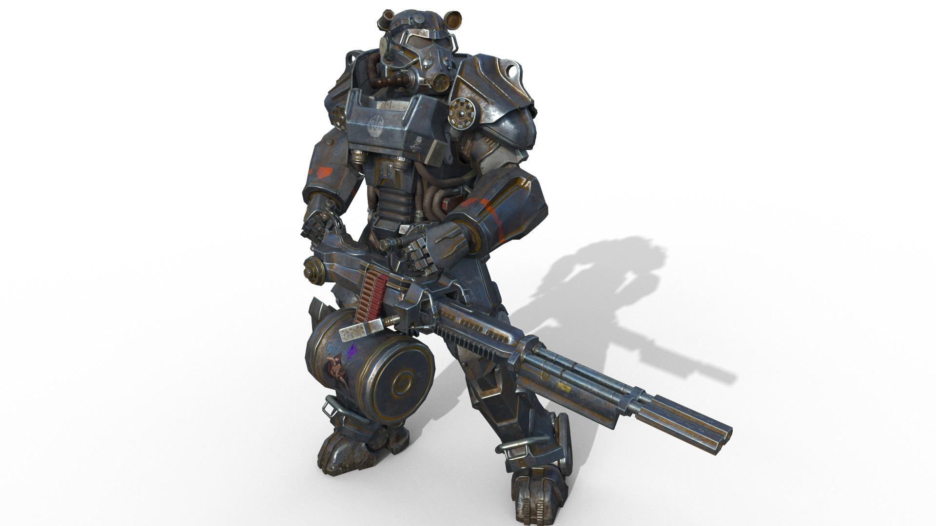 ArtStation - fallout4 t60 power armor, Yuntian Gao