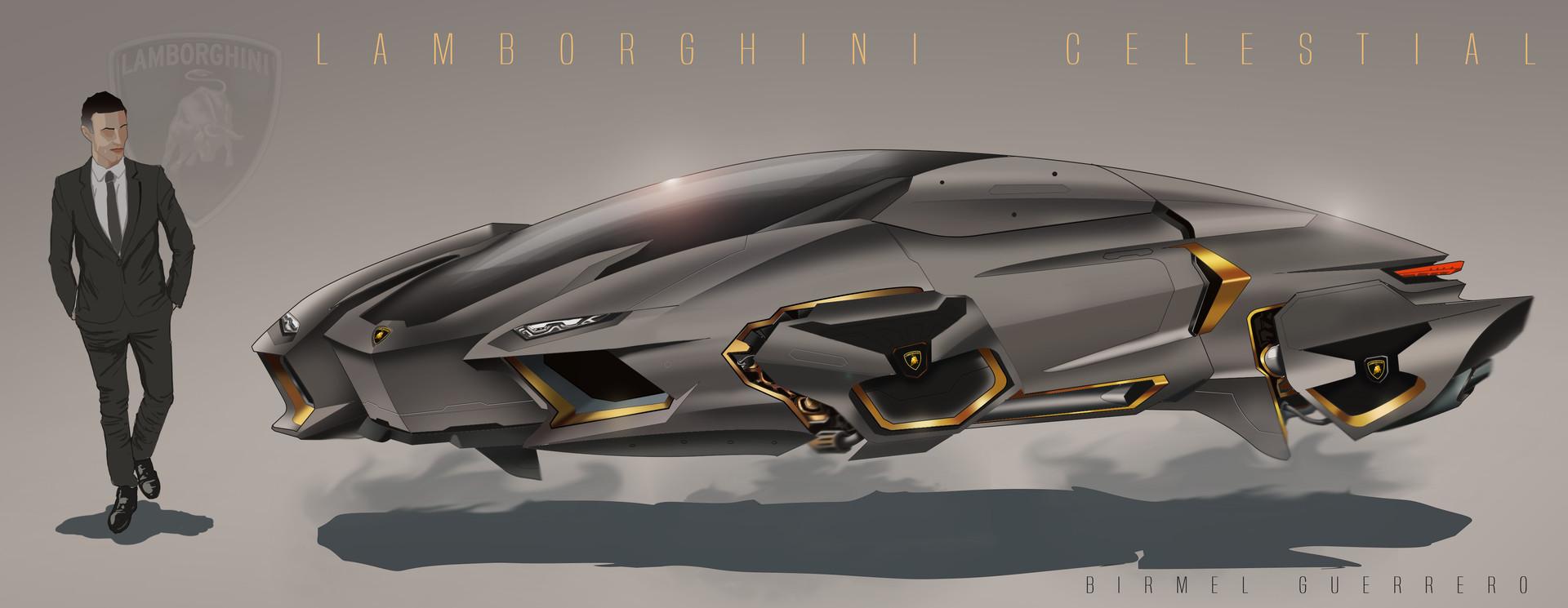 Artstation Lamborghini Celestial Concept Birmel Guerrero