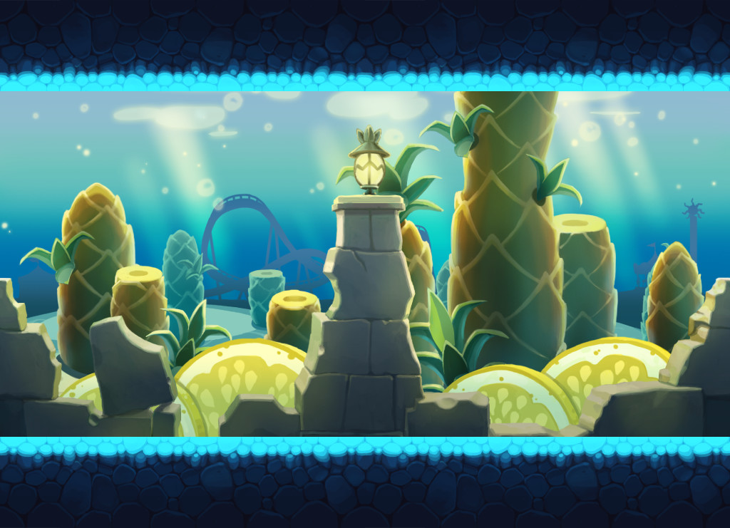 Alex lee   mini game  under the sea  battle map 2D work Alex lee upoo ep01 bg s01