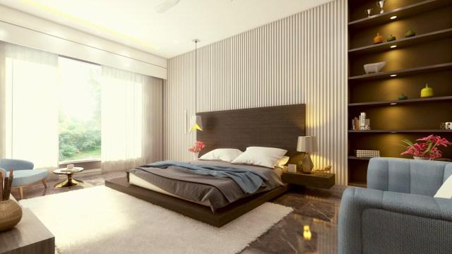 ArtStation - 3d Interior Render - Master-bed, Shubham Meena