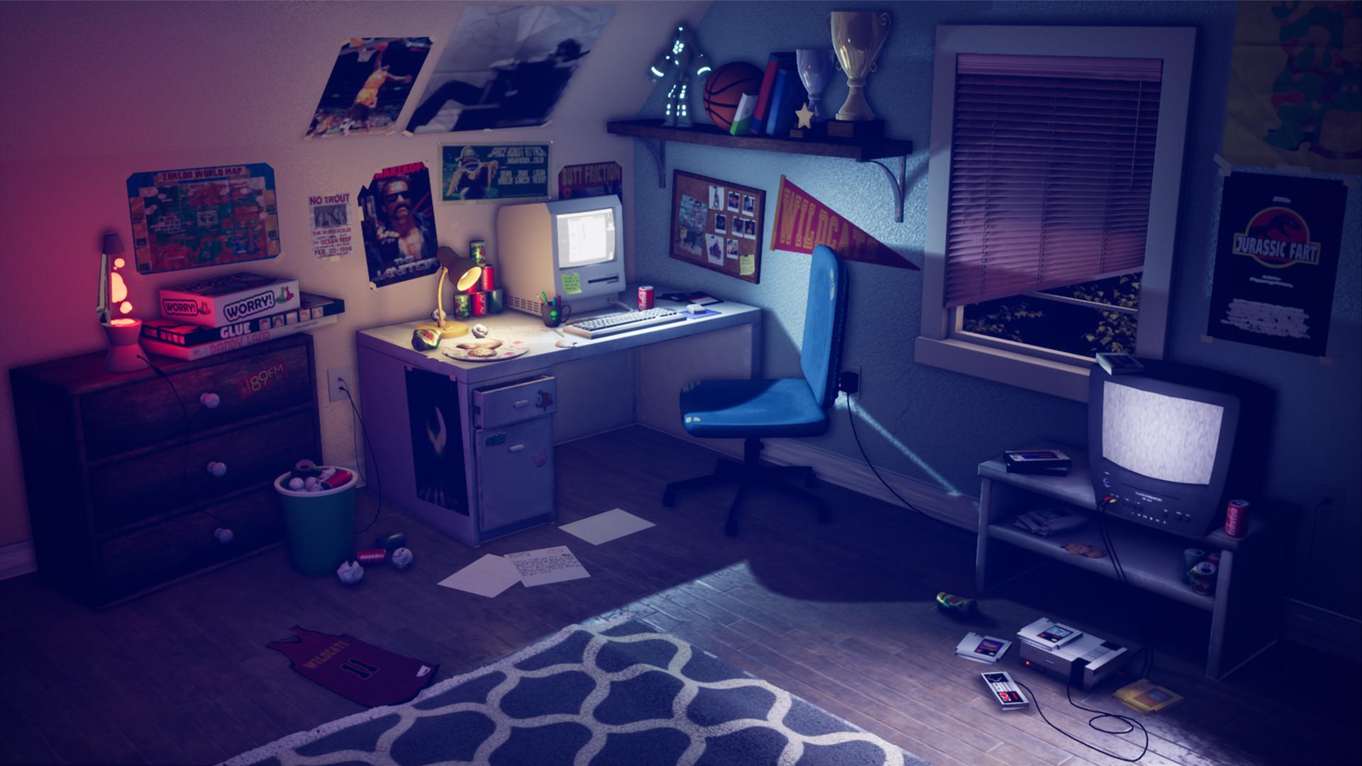 Sean Hadeler - 90's Teen Boy's Bedroom on 90 Room  id=19258