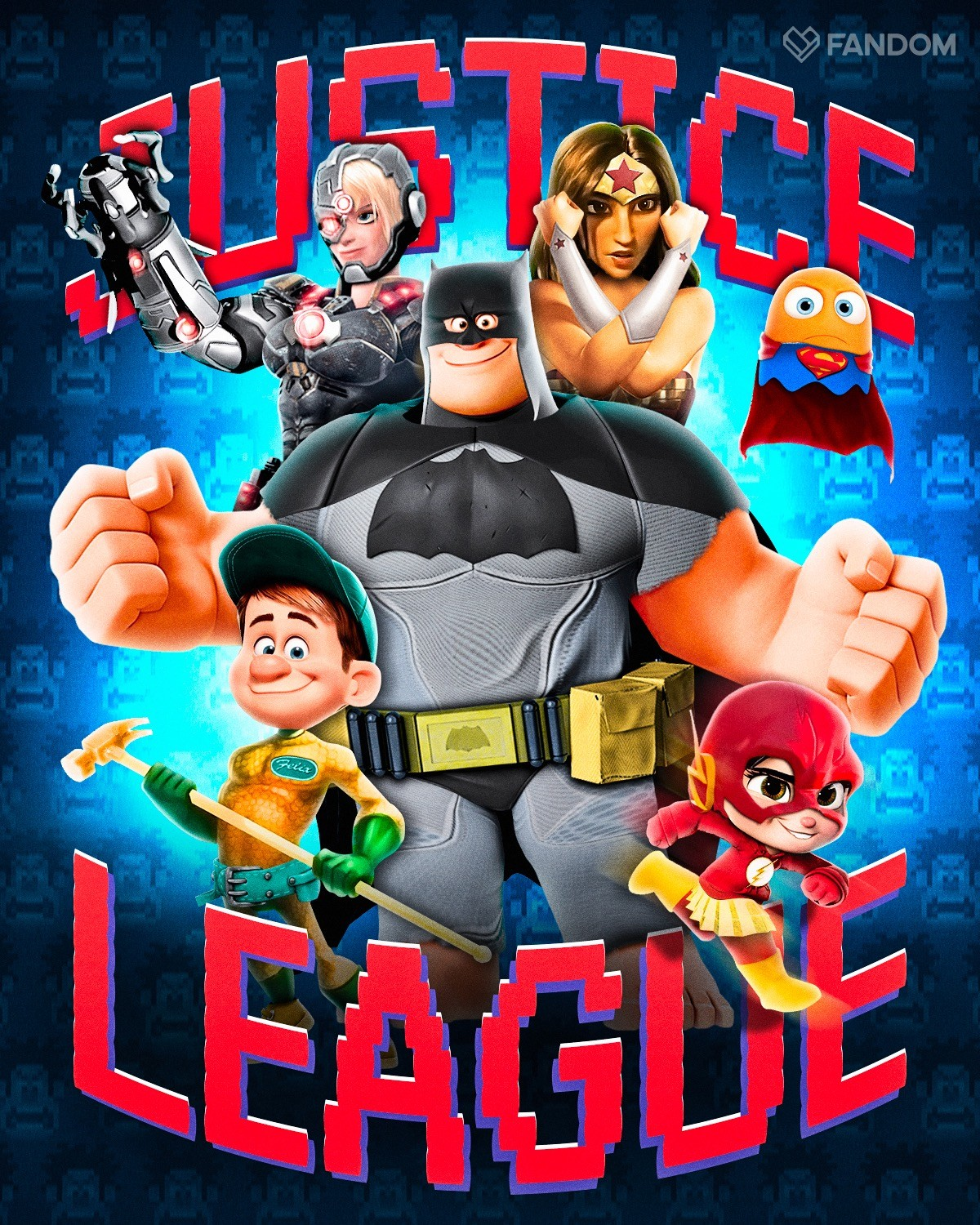 ArtStation Wreck it Ralph x Justice League Crossover