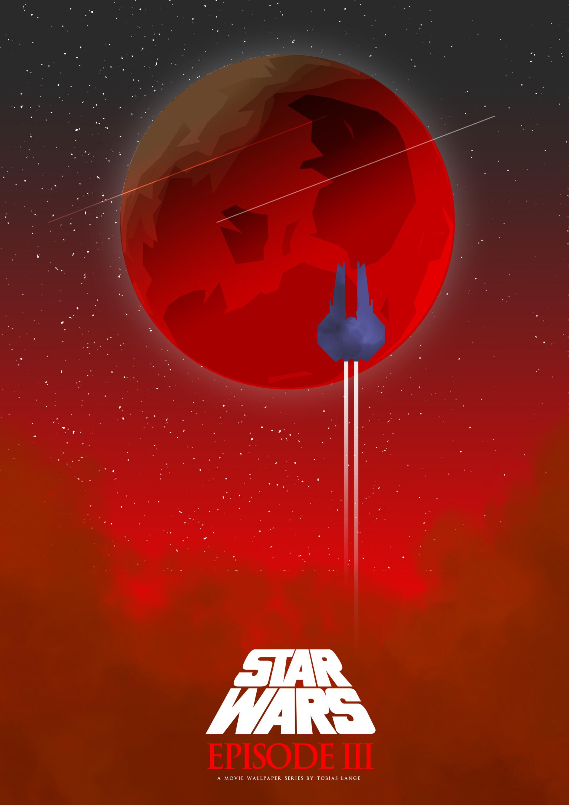 a star wars movie poster series