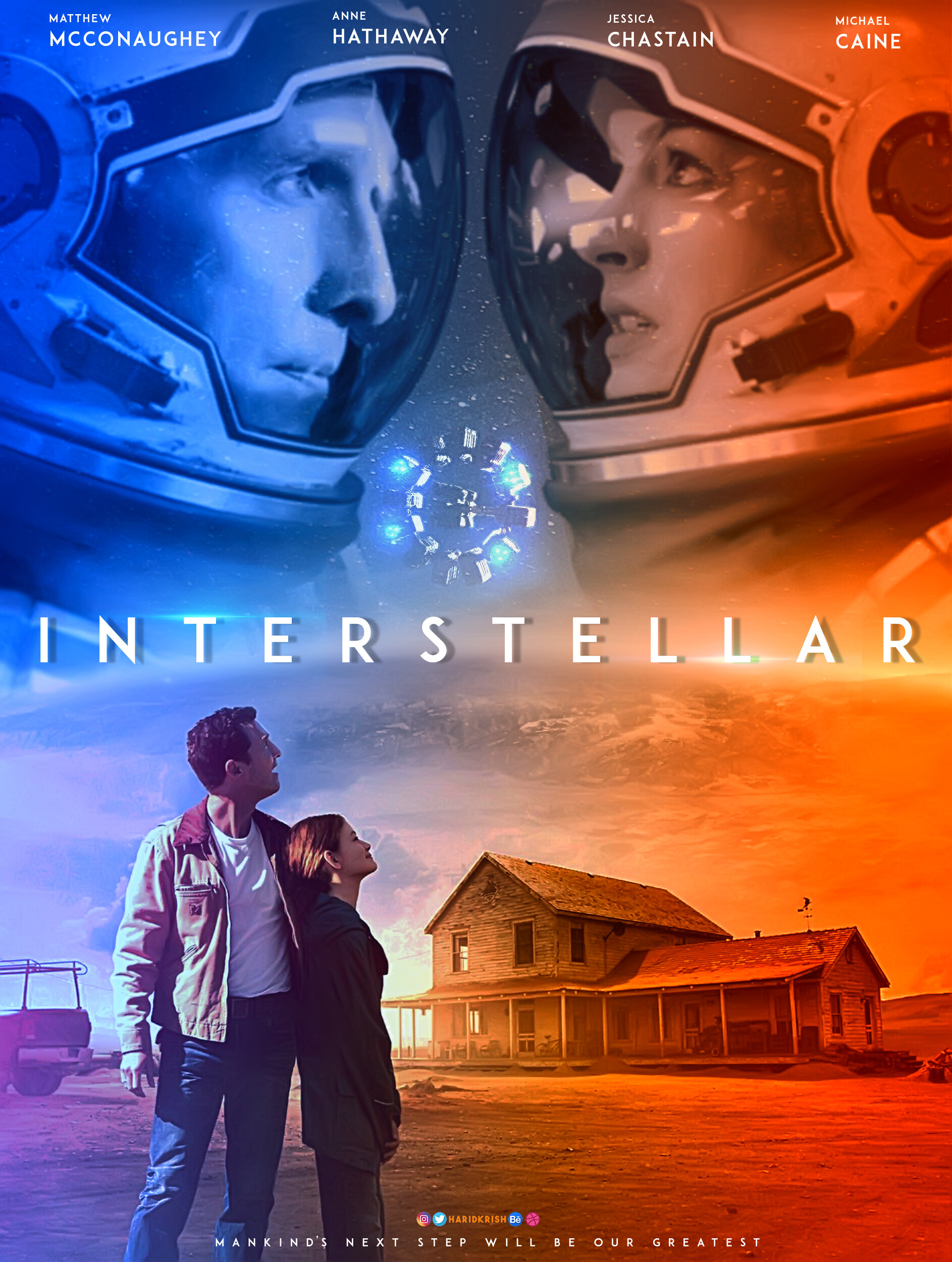 interstellar movie poster design hari