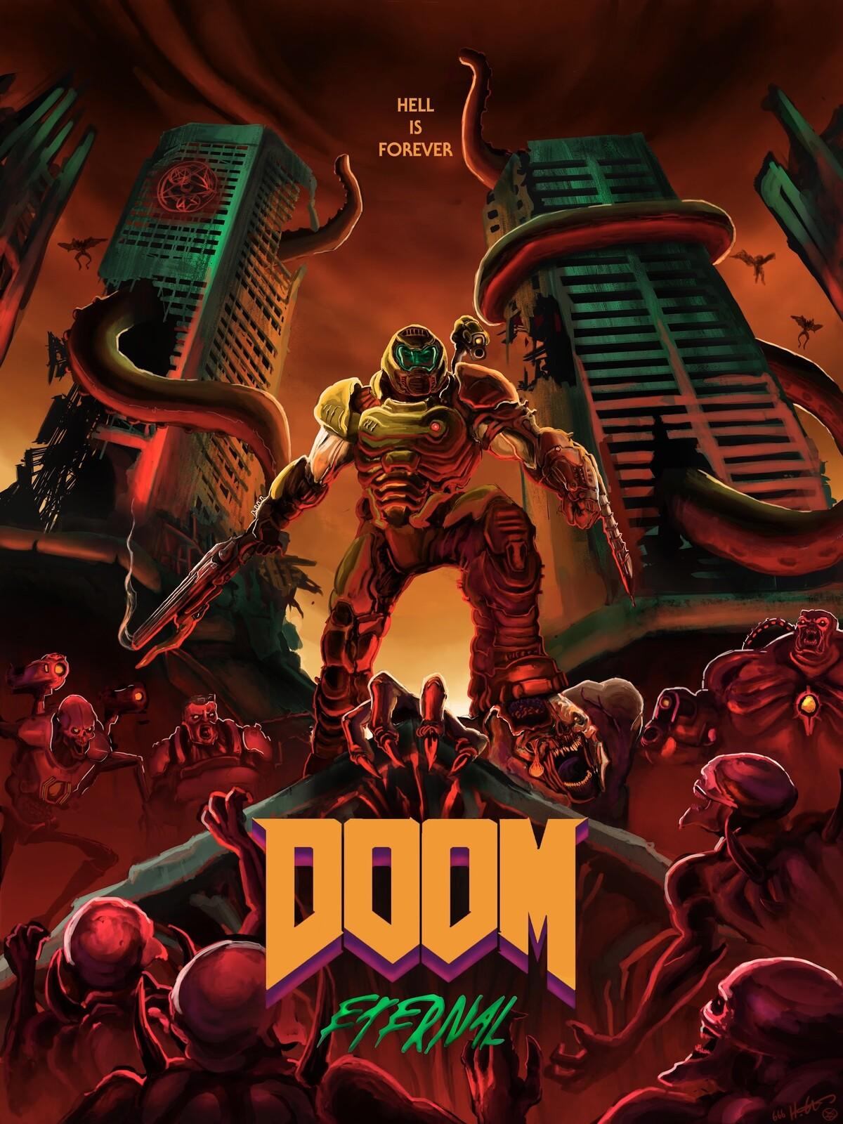 artstation doom eternal poster 1