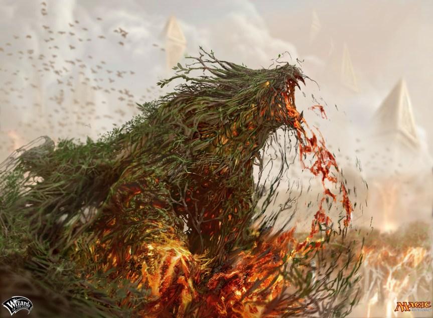 "ArtStation - Magic the Gathering: ""Brushfire Elemental"", Campbell White"