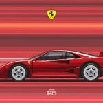 Artstation Ferrari F40 Digital File Vector Artworks