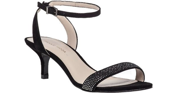 Pelle moda Fabia 2 Embellished Suede Sandals in Black   Lyst