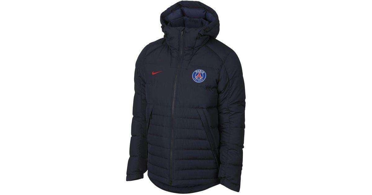 nike blue paris saint germain down jacket for men
