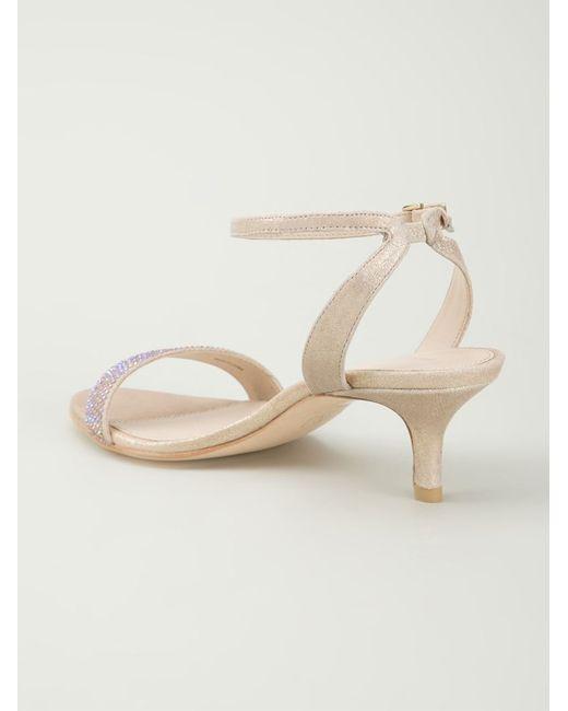 Pelle moda 'fabia' Sandals in Beige (metallic)   Lyst
