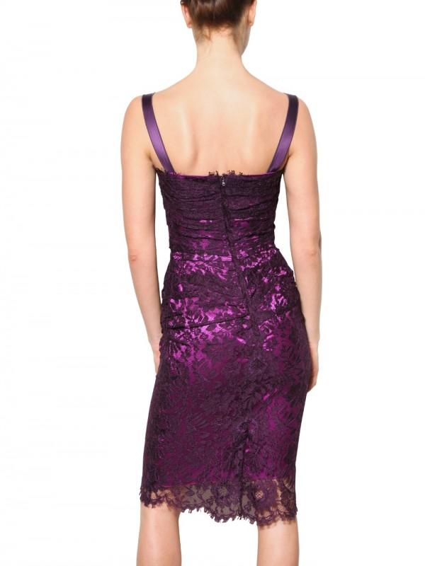 Lyst Dolce Amp Gabbana Viscose Lace Dress In Purple