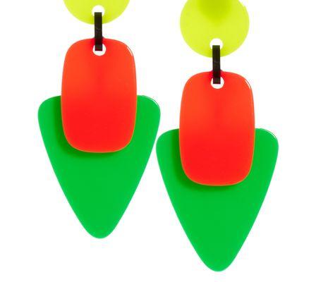 ASOS Collection Asos Neon Trio Drop Earrings