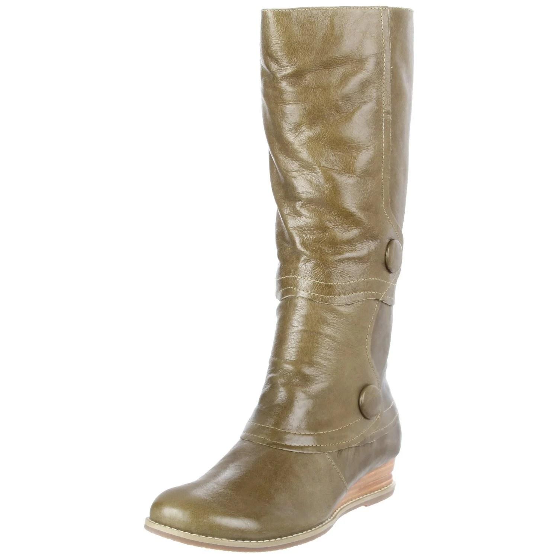 Miz Mooz Blossom Knee High Boot In Brown Green