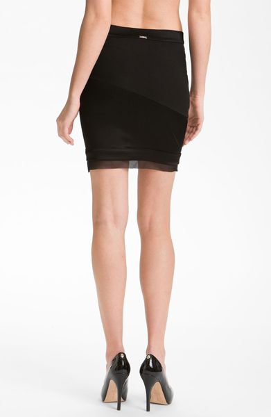 Vpl Undi Seamed Pencil Skirt In Black Lyst