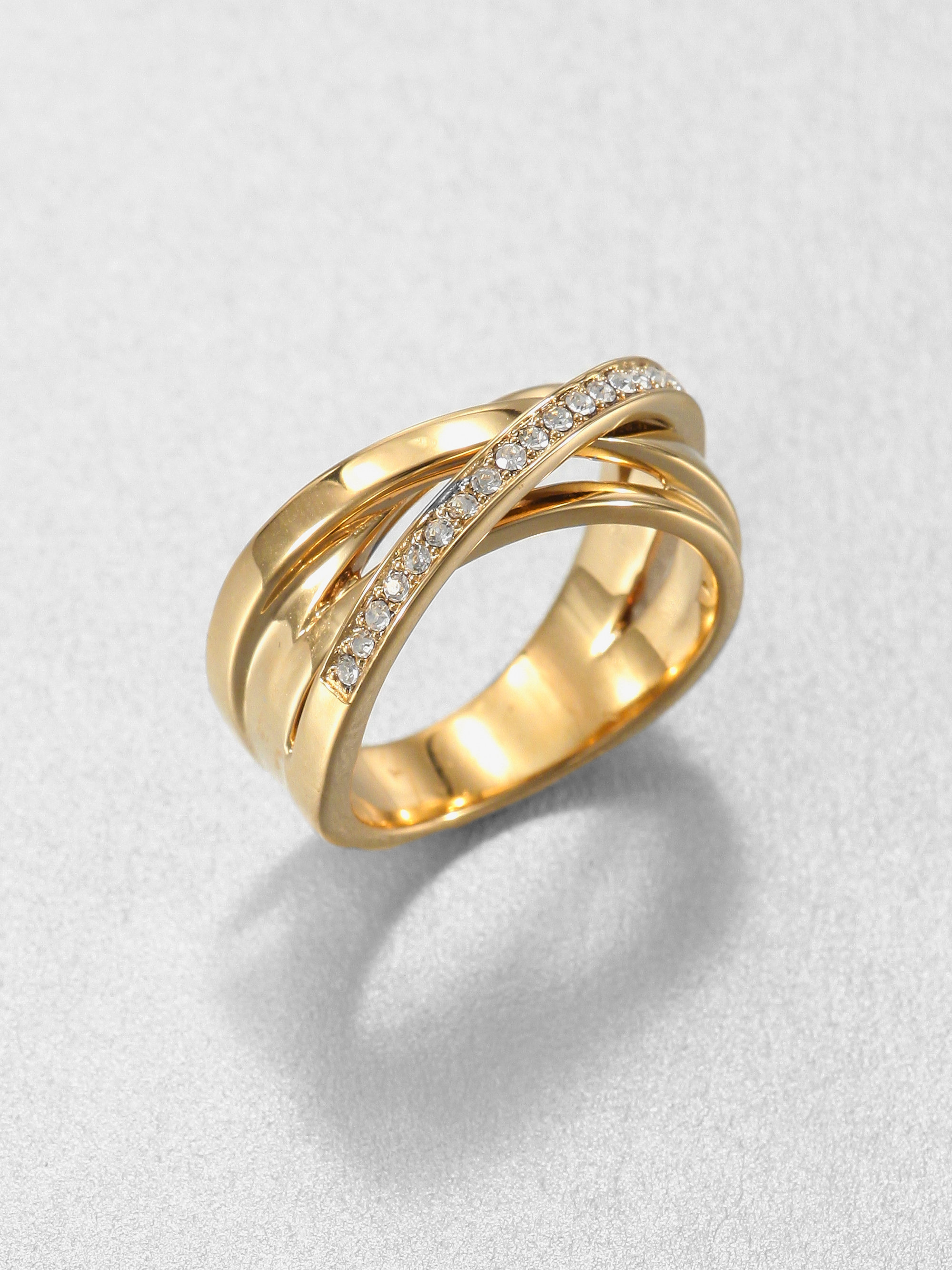 Michael Kors Pav Twisted Ring In Metallic Lyst