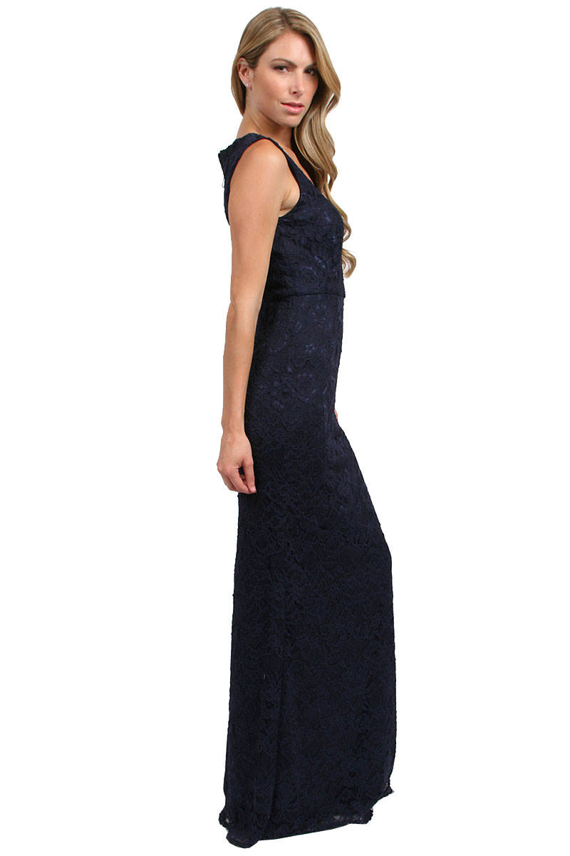 Navy Adrianna Papell Gowns