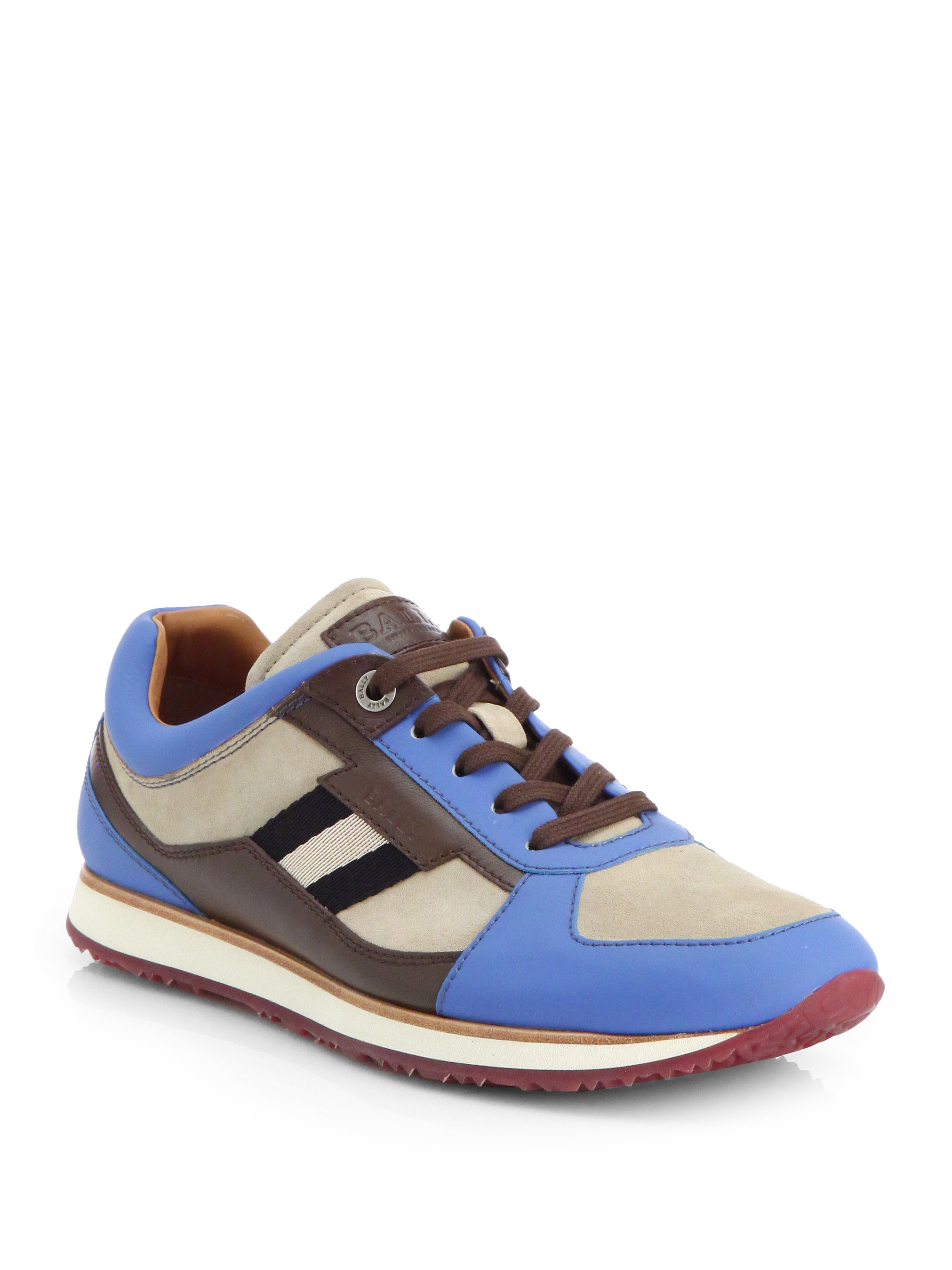Bally Colorblock Sneakers In Blue For Men