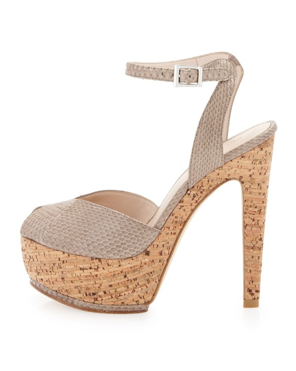 Lyst - Pelle Moda Maddy Platform Peeptoe Sandal ...