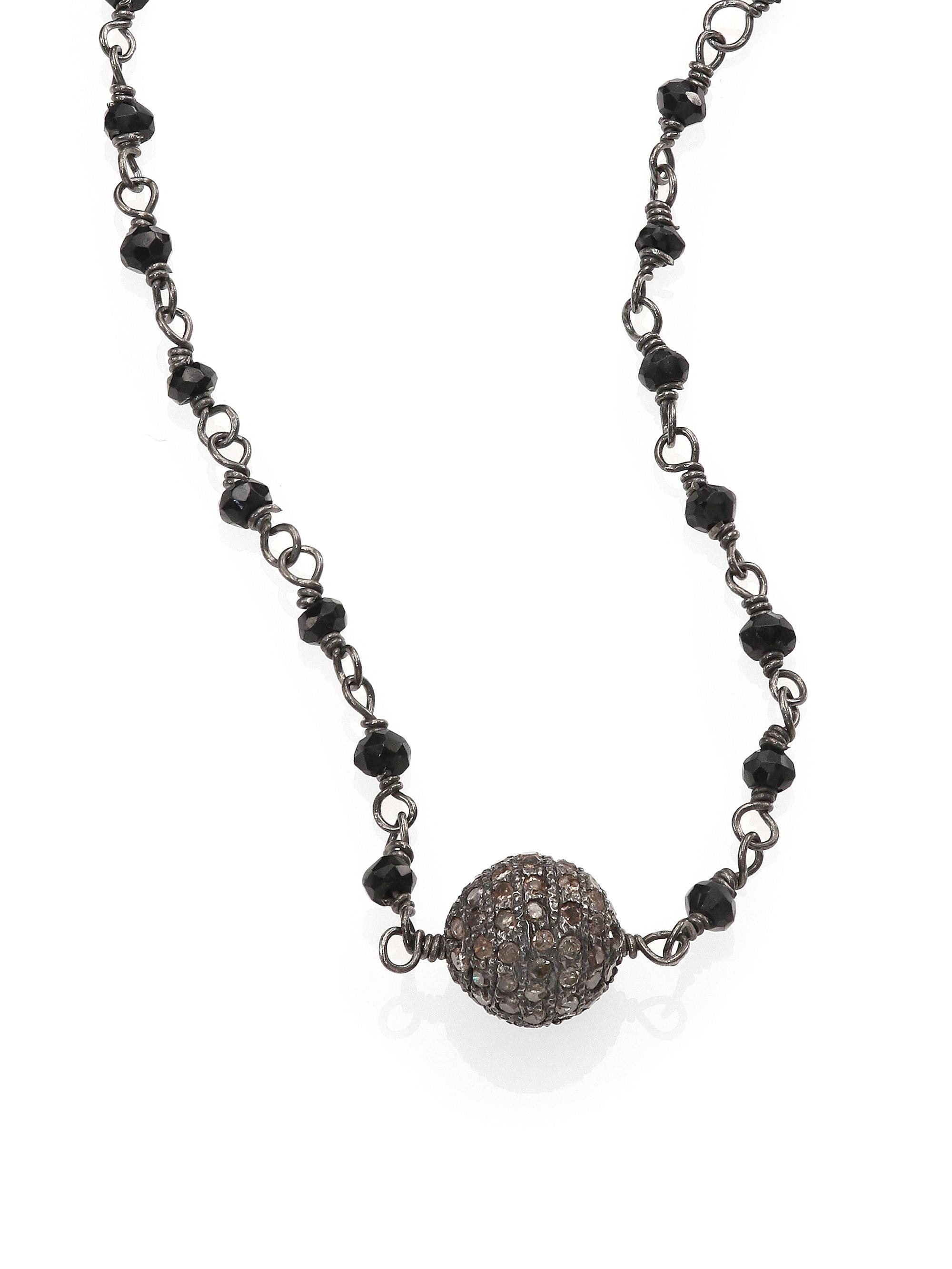 Iam By Ileana Makri Grey Diamond Black Spinel Amp Oxidized