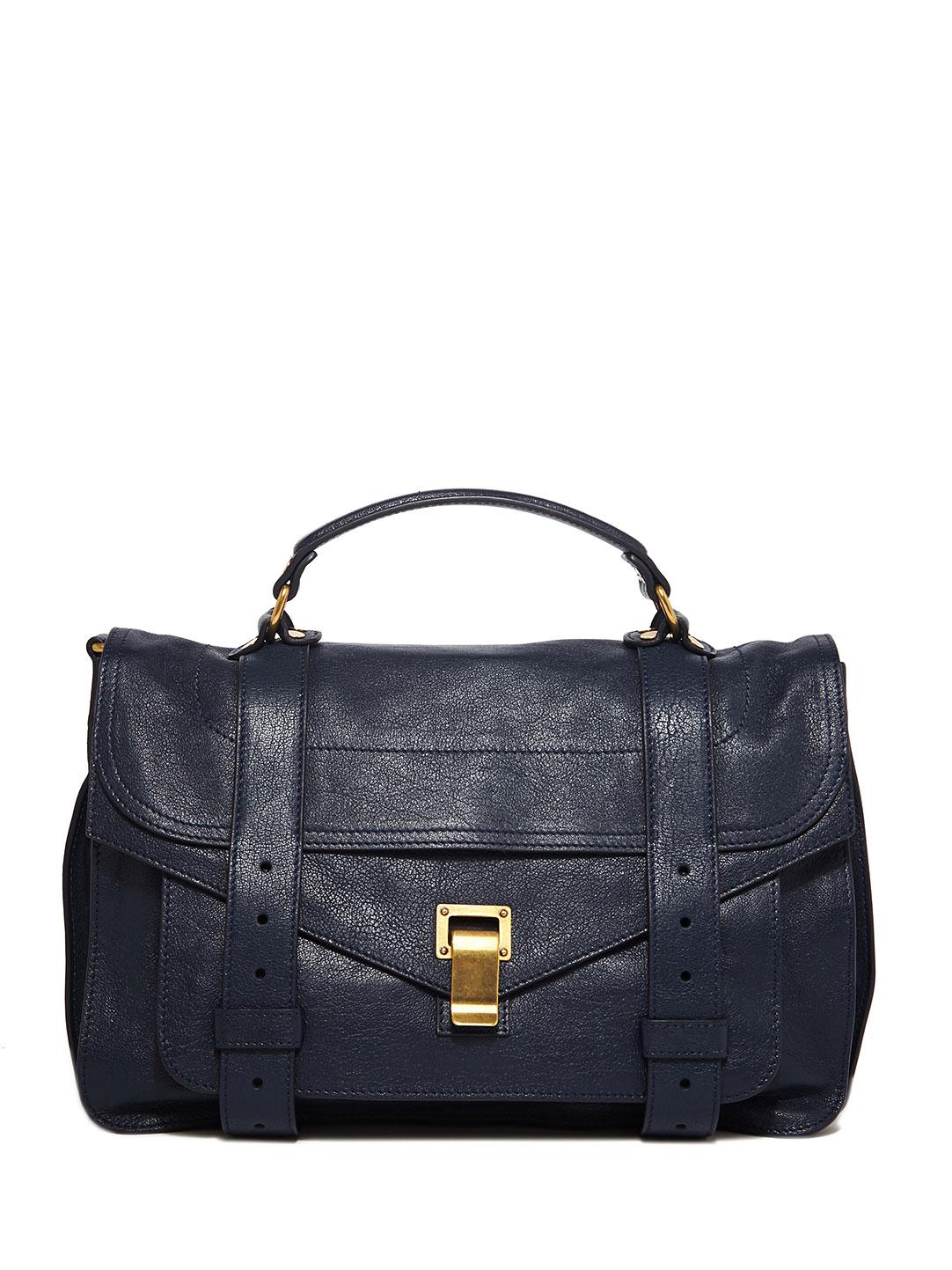 Lyst Proenza Schouler Womens Ps1 Medium Leather Bag In Blue