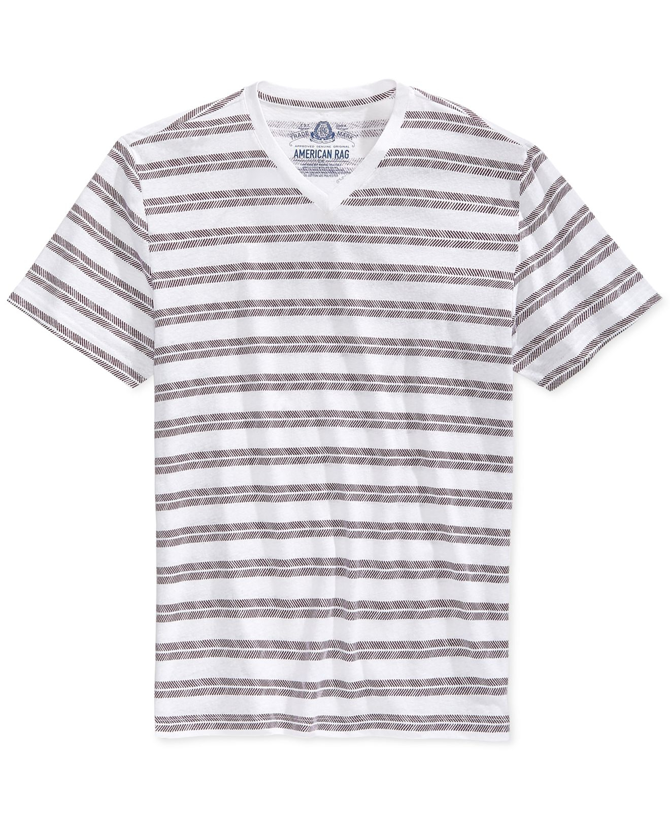 American Rag Striped T Shirt In Red For Men