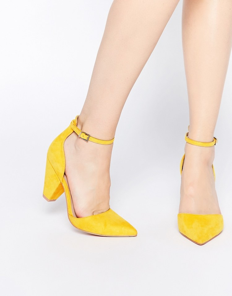 Image result for marigold yellow shoes heel