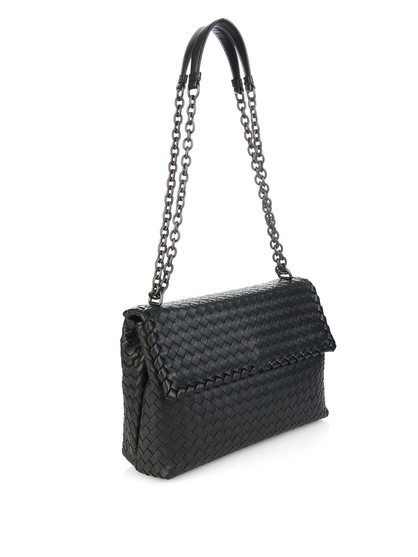 Bottega Veneta Olympia Intrecciato Leather Shoulder Bag In