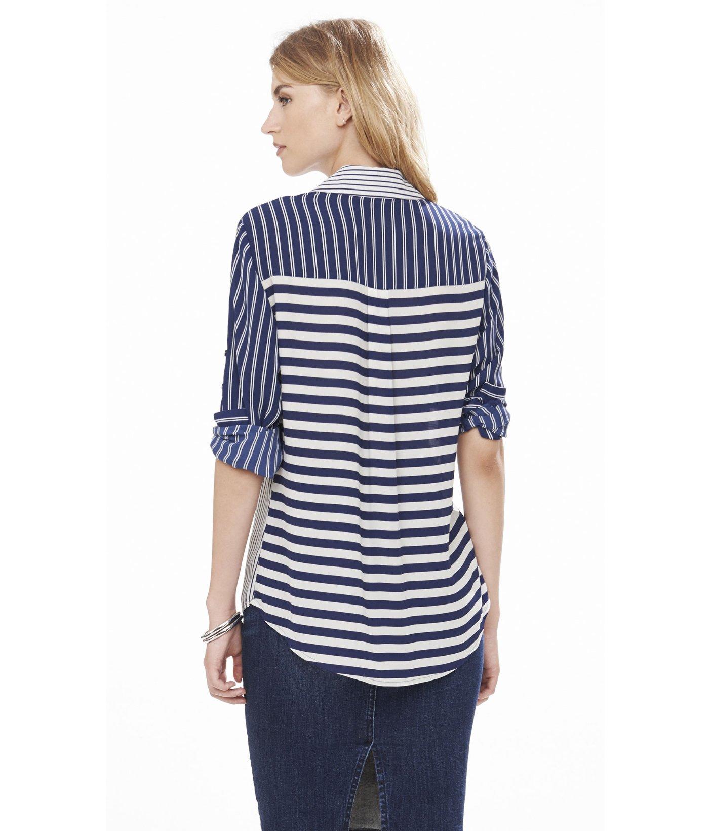 Lyst Express Original Fit Mixed Stripe Portofino Shirt