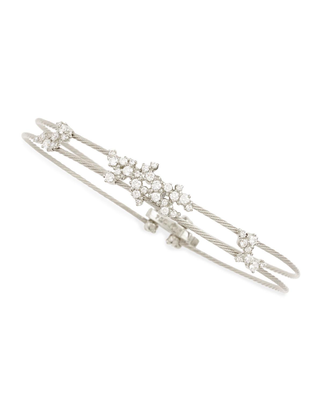 Paul Morelli Diamond Confetti Double Wire Bracelet In